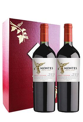 智利红酒品牌 蒙特斯经典赤霞珠干红葡萄酒